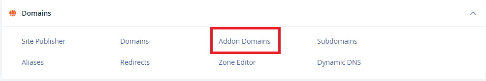 Addon Domains in cPanel